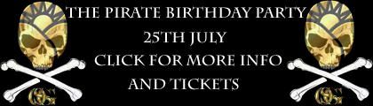 The Pirate Birthday Party - Saturday 25th July